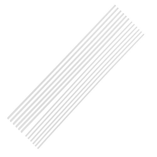 DealMux 12Pcs 2mm 3mm Clear Round Acrylic Rod PMMA Exturded Bar 12 Inch Length DLM-B00YBN3JUA