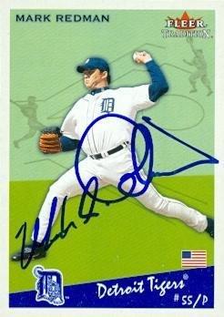 Mark Redman Signed Baseball - Card 2002 Fleer Tradition #U166 - Autographed Baseball Cards