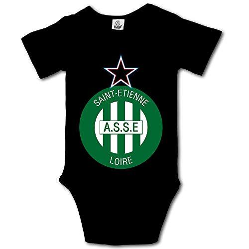 Association Sportive De Saint-Etienne Loire Soccer Club Cotton Bodysuit Romper Onesie Jumpsuit Baby Clothes