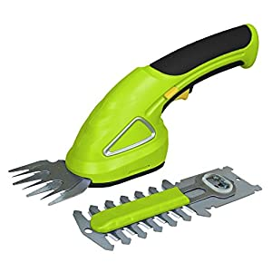 SereneLife Battery Grass Cutter, Grass Clippers Cordless, Trimmer Cutter, Handheld Trimmer, Grass Shear Electric, Perfect For Leaves & Debris, Rechargeable Battery, Charge Time 4 Hrs, 3.6V (PSLHTM20)
