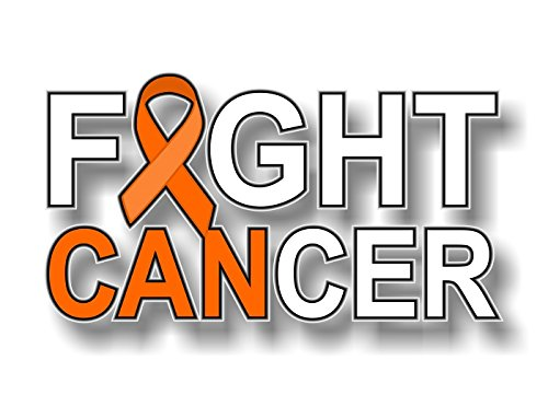 Street Legal Decals I CAN Fight Cancer Orange Ribbon 8
