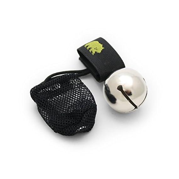 "Coghlan's Ringing Bear Bell Metal w/ Magnetic Silencer CHROME 3 Magnetic Bear Bell Bell Measures 1 1/2"" Diameter Magnetic Strap Silences Bell When Not In Use"