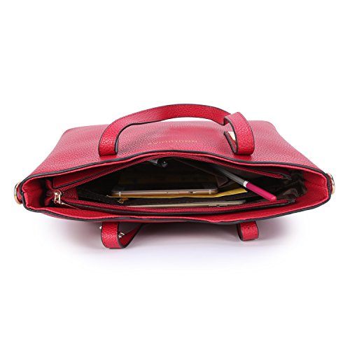 moda Messenger Vino Il le donne Kinikiss Borse a tracolla pelle Rosso da PU a per Del donna per Borse le Colore in Borse Borse donne tracolla xw1STq1I