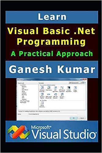Learn Visual Basic  Net Programming: A Practical Approach: Ganesh
