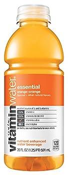 Glaceau VitaminWater Nutrient Enhanced Water, Essential Orange, 20 Ounce (24 Bottles)