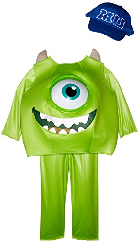 [Disguise Disney Pixar Monsters University Mike Toddler Deluxe Costume, Medium/3T-4T] (Official Halloween Costumes)