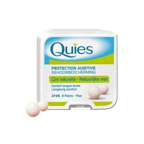 Caswell-Massey Boules Quies Ear Plugs - Natural Beeswax and Cotton Plugs for Swimming, Sleeping - Disposable, Reusable - 8 Pairs