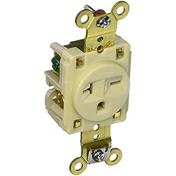hubbell hbl5461i heavy duty specification grade single receptacle