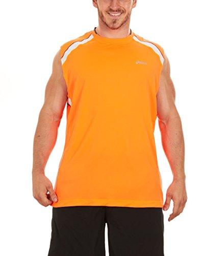 ASICS Men's Runaround Sleeveless Muscle T-Shirt (X-Large, Orange)
