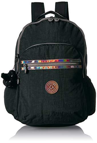 Kipling Seoul Go Laptop Backpack, Padded, Adjustable Backpack Straps, Zip Closure Laptop Backpack, Black
