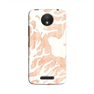 Cover It Up - Pink Nature Print Moto C Hard case