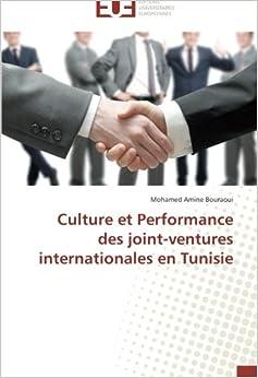 Book Culture et Performance des joint-ventures internationales en Tunisie (Omn.Univ.Europ.)