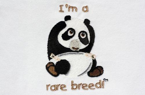 Lil Cub Hub Baby Long Sleeve Gown Panda 0-3 White