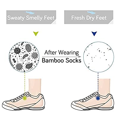 +MD 6 Pack Womens Bamboo Crew Socks Extra Heavy Full Cushion Casual Socks Moisture Wicking Hiking Trekking Sports Socks 6Black9-11 at Amazon Women's Clothing store