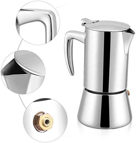 Cay2T - Espressomaschine, Edelstahlkessel für Gas und Strom, Gute Espressomaschine - schön -