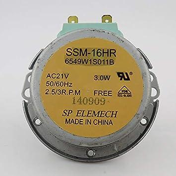 Motor giratorio para microondas SSM-16HR 6549W1S011B AV21V 50/60 ...