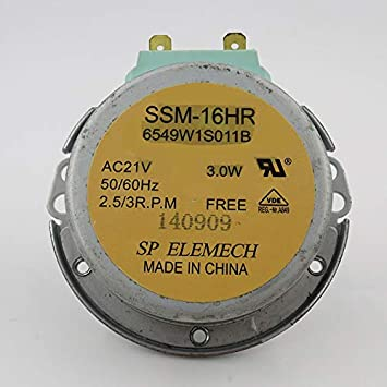 Motor giratorio para microondas SSM-16HR 6549W1S011B AV21V ...