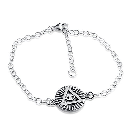 Handcrafted Circle - Azaggi Sterling Silver Handcrafted Illuminati Circle Bracelet (sterling-silver)