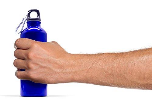 500 mL ( 16.9 fluid ounce ) Aluminum Sports Water Bottle , Blue
