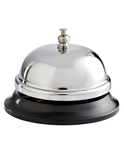 HIC Food Service Dinner Bell, 3.5-Inches x 2.5-Inches -