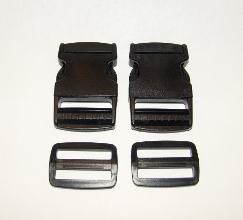 """Buckle Plastic Quick Release Clip, 2"""" Inch Side Release, w/"""