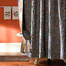 Wakefield Curtain - Wakefield Floral Reversible Shower Curtain