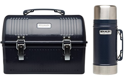 (Stanley Classic Lunch Box and Classic Vacuum Food Jar Combo (Hammertone Navy)