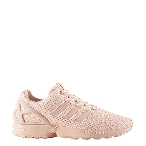 adidas Originals Girls' ZX Flux J Sneaker, Haze Coral Haze Coral Haze Coral S, 7 M US Big Kid Woven Haze Stripes