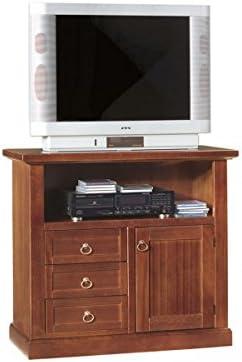VANO DA 84x40x80h Vintage Home PORTA TV IN LEGNO 3 CASS,+1 PORTA