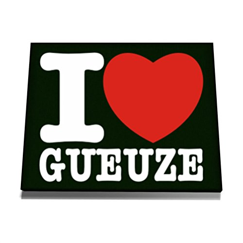 teeburon-i-love-gueuze-canvas-wall-art-12-x-8-inch