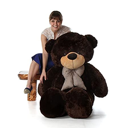 5 Foot Life Size Teddy Bear Huge Stuffed Animal Toy Huggable Cute Cuddles Giant Teddy Bear (Chocolate Brown) Soft Toys at amazon