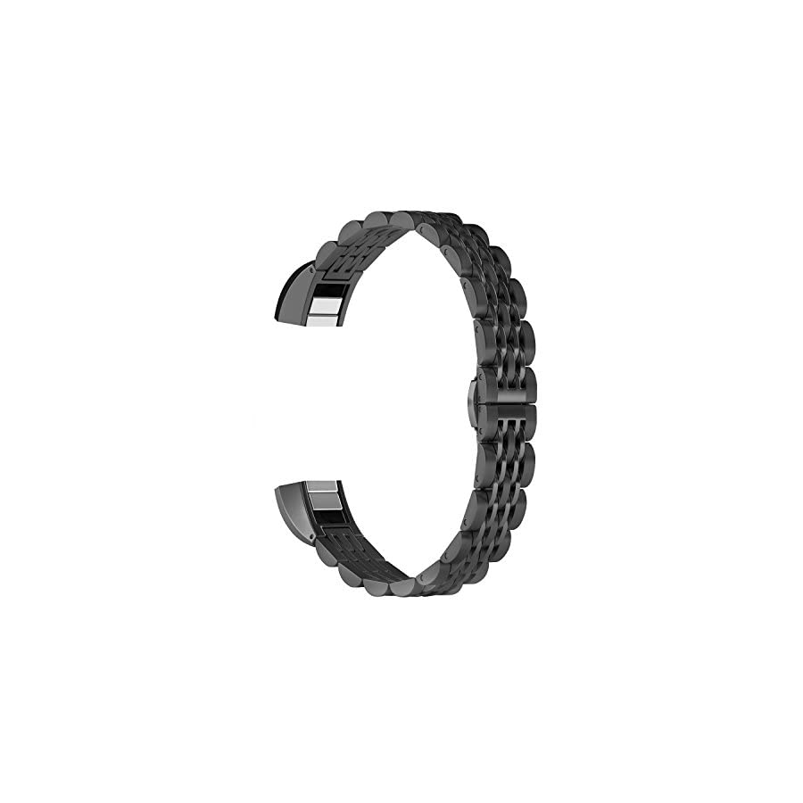 ImmSss Band Compatible for Fitbit Alta HR and Fitbit Alta for Women Men, Stainless Steel Jewelry Bracelet Band Compatible for Fitbit Alta HR and Fitbit Alta Smartwatch Fitness Tracker