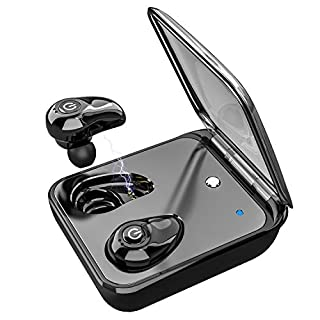 Wireless Earbuds for iPhone Android Bluetooth 5.0 Earbuds with Mic Wireless Earphones 3D HiFi Sound Dual Built-in Mic Auto Pairing Cordless Earbuds Headphones with 2000mAh Charging Case