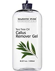 Callus Remover for Feet by Majestic Pure - Gel with Tea Tree Oil for Corn and Callus - Moisturizes & Hydrates Toughened & Dry Skin, Removes Dead Skin, 8.8 fl. oz.