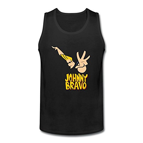 Brian Mccann Braves (SAMMA Men's Johnny Bravo O Neck Tank Top T)