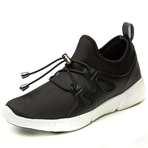 HUSK'SWARE Unisex Kinder Jungen Mädchen LED Schuhe mit USB Sportschuhe Sneakers Schwarz-n