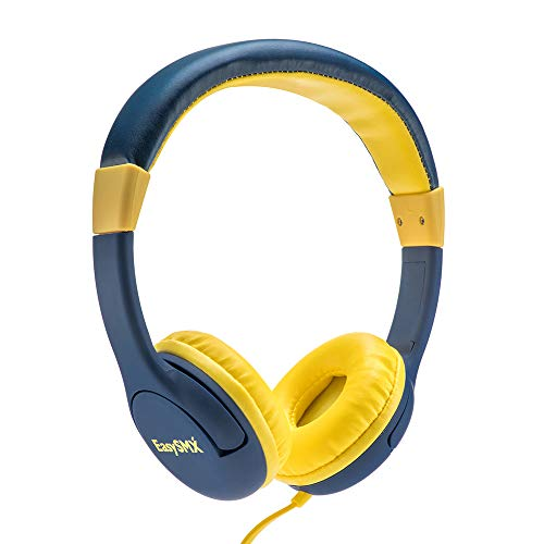 JIEDING Kids Headphones,3.5mm Jack 85dB Volume Limited Stereo Wired Children's Headphones Over Ear Headsets(Blue) ()
