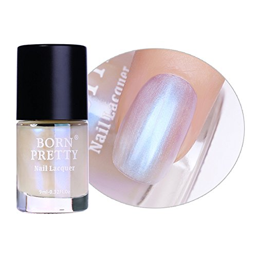 BORN PRETTY Nail Art Pearl Mermaid Polish Transparent Shell Glimmer Lacquer Shiny Shimmer Manicure Varnish #1