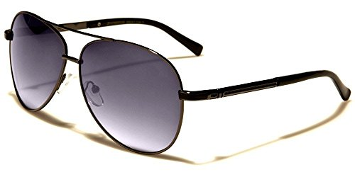 Black Gradeint Skyline Collection Classic Double Bridge Men'S Aviator Sunglasses (Classics Collection Sunglasses)