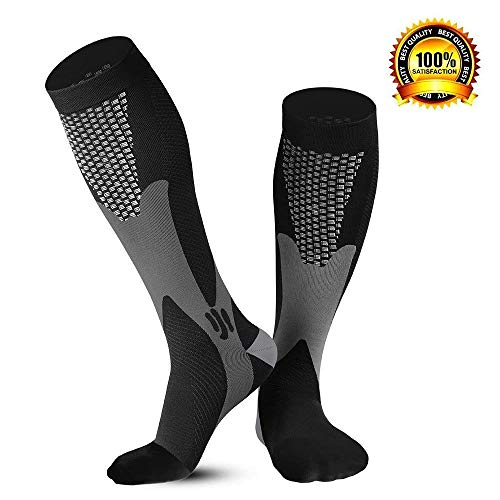Travel Compression Socks for Women Men 20 30 mmHg with Sport Scarf,Best for Nurses Running Hiking Medical Pro Grade Graduated Support and Recovery Circulation
