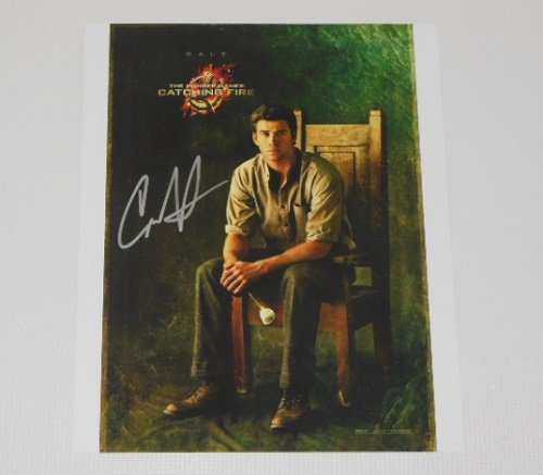 The Hunger Games Catching Fire Liam Hemsworth Signed Autographed 8x10 Glossy Photo Loa