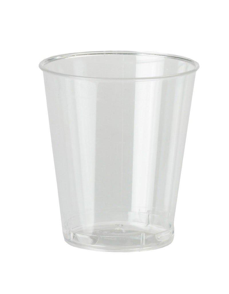 PinkWebShop NSHOT40-ESST-A - Juego de 30 Vasos Desechables + 20 Gratis, 30 ML, Transparente: Amazon.es: Hogar