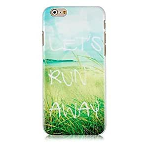 LCJ Let's Run Away Pattern Hard Back Case for iPhone 6 Plus by ruishername