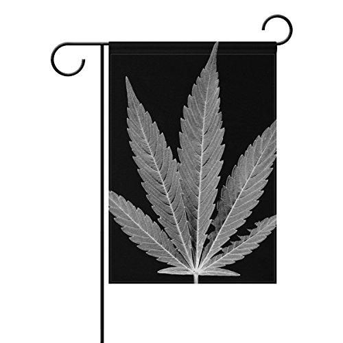 "LEISISI Marijuana Leaf Garden flag 12""X18"" Two Sided Yard De"