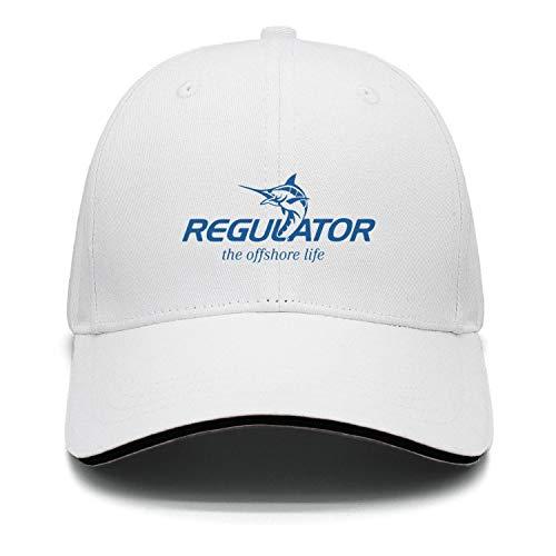 cambpdkje Mens Women Girls Casual Cap Regulator-Logo-Blue- White Hip hop Unisex Visor Adjustable Hat