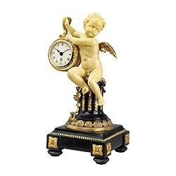 Design Toscano Chateau Colville Neoclassical Cherub Table Clock