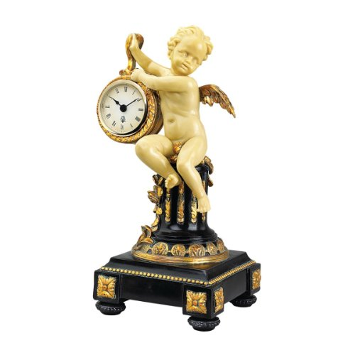 (Design Toscano Chateau Colville Neoclassical Cherub Table Clock )