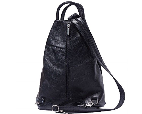 amp; Soft Shoulder Italian Convertible Soft Zip Backpack Black Bag New London Super Italian Craze Rucksack Leather Shoulder Leather and Rucksack Bag t1F0qvw
