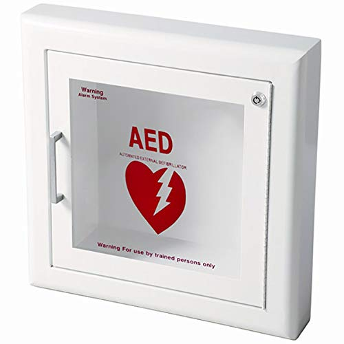 Life Start Series AED Semi-Recessed Wall Cabinet w/Siren