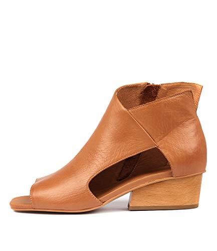 Heels DK TAN SILENT TOLRA Womens Peep Shoes Toes LEATHER Medium D nwx6qT1xX8